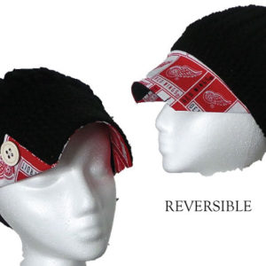 Black hat with Wings fabric